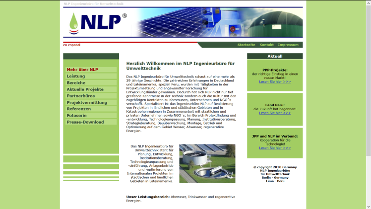 http://www.nlp-umwelttechnik.com - Design and concept by Dr. Nikolaus Andre, 2007