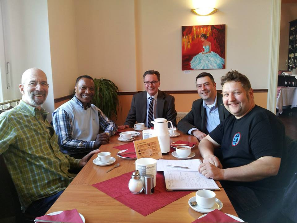Rik De Lisle, Dan Simmons, Majo König, Dr. Nikolaus Andre (Projektleitung), Dirk Baade. 21.03.2014.
