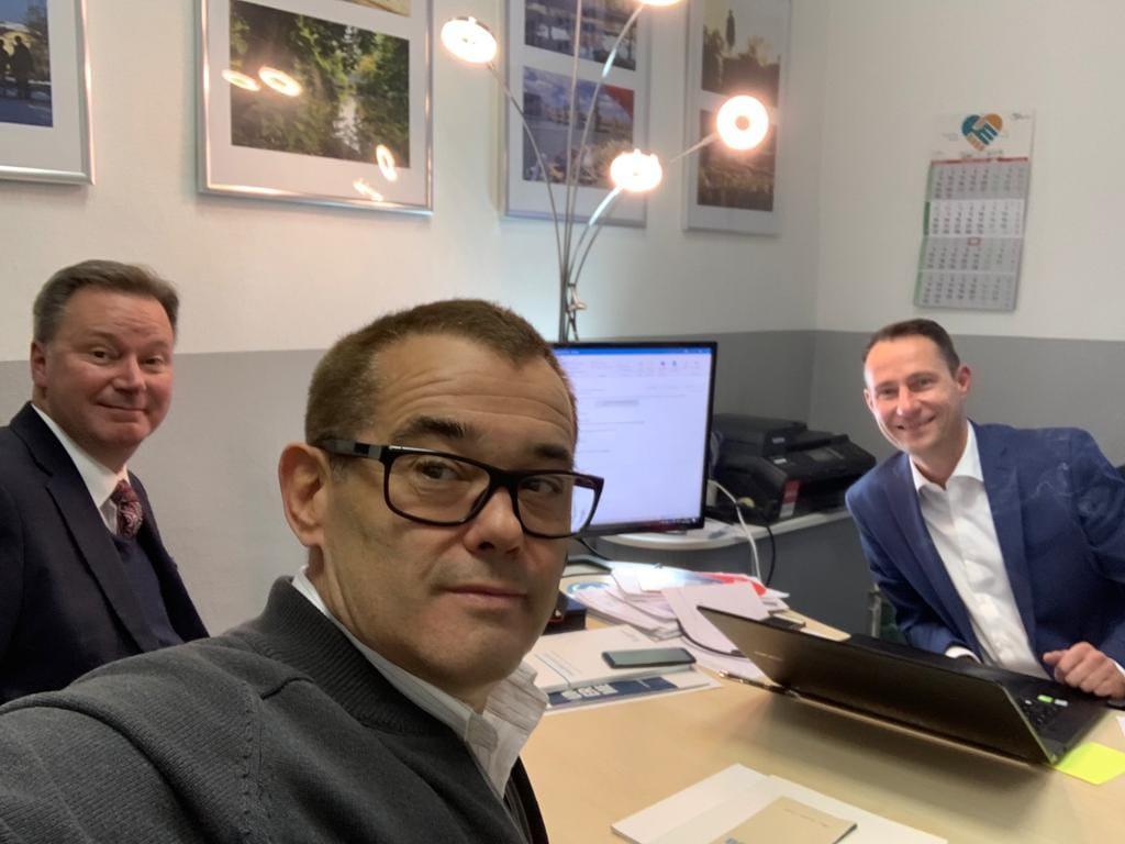 Head of Management Avocons Croatia, Dr. Nikolaus Andre,  Roberto Spaija, Andre Voltz - Geschäftsführer Avocons GmbH
