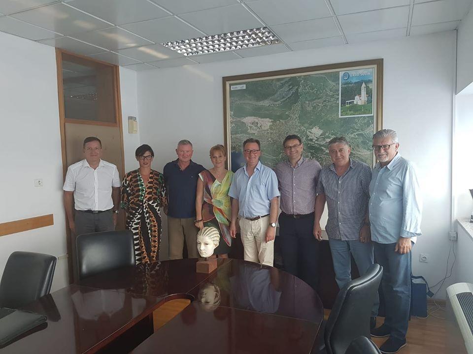 Gruppenbild mit Dr. Nikolaus Andre und der Stadtverwaltung Solin/Kroatien