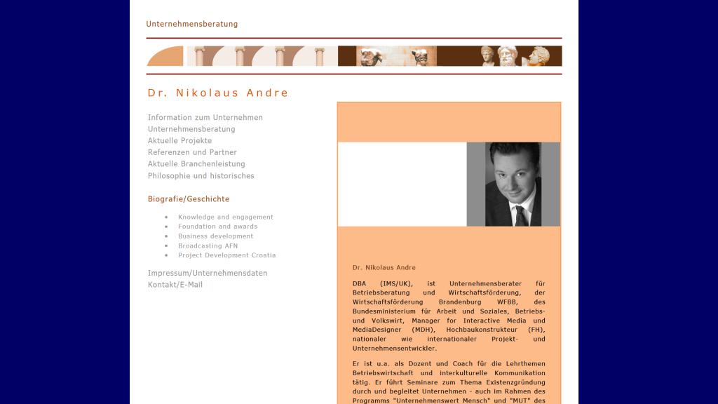 media is online - Unternehmensberatung und Agentur Dr. Nikolaus Andre